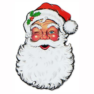Display Santa Face Cutout 26in