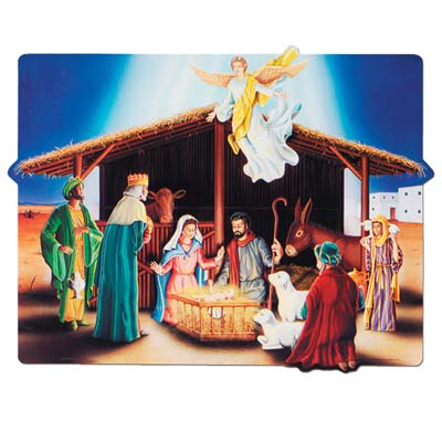Nativity Scene Cutout 18x23.5in