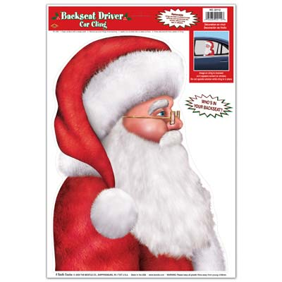 Santa Car Cling 12 x17in Sheet