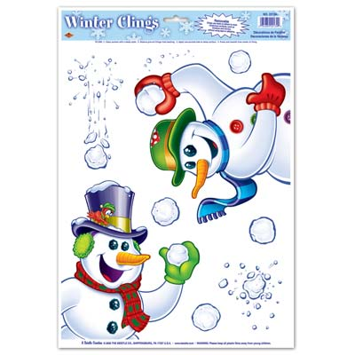 Snowman Clings 12x17in Sheet