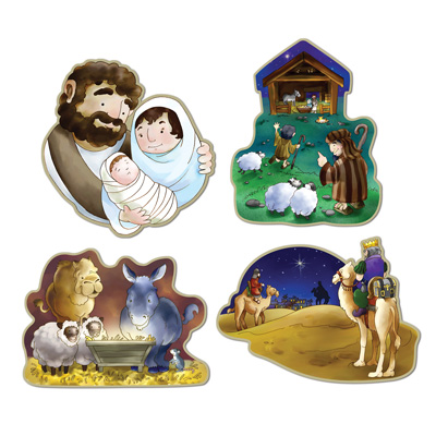 Nativity Cutouts 16in