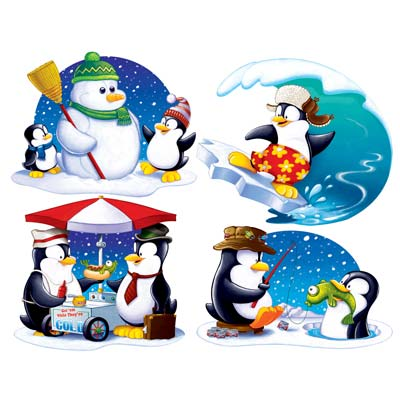 Penguin Cutouts 13.75-15.75in