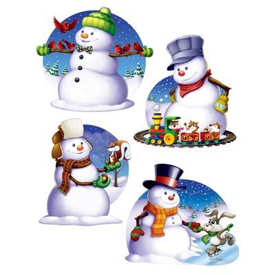 Snowman Cutouts 14.25-15.5in