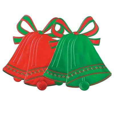 Foil Christmas Bell Silhouettes 16.5in