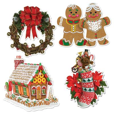 Pkgd Home For Christmas Cutouts 13.75-16in