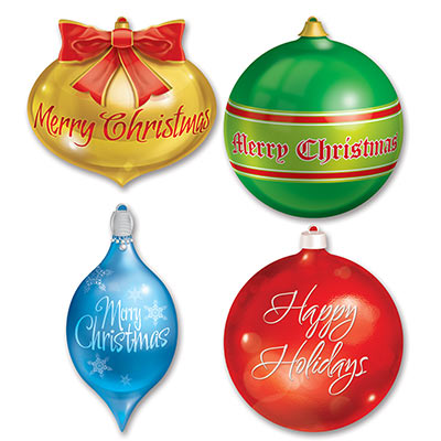 Pkgd Christmas Ornament Cutouts 13.5-16.5in