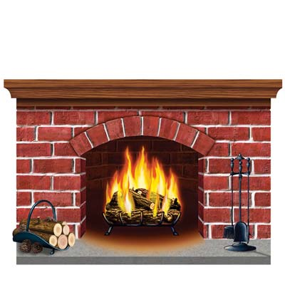 Brick Fireplace Wall Cling 32in x 3ft 11in