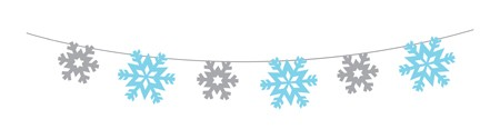 Snowflake 100ft String Garland