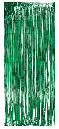 Green Foil 8x3ft Door Fringe