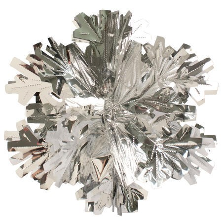 Glitz Silver Hanging Dcor 16in Dimensional Snowflake