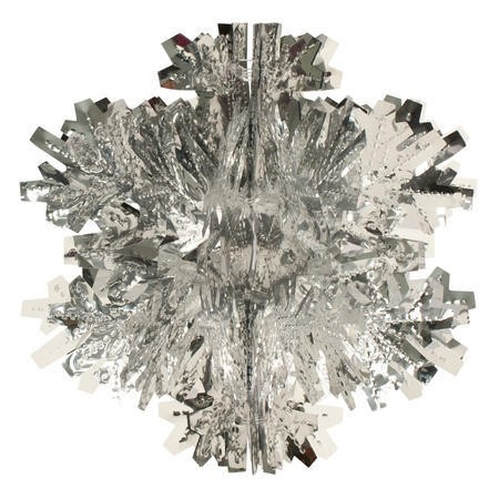 Glitz Silver Hanging Dcor 8in Dimensional Snowflake