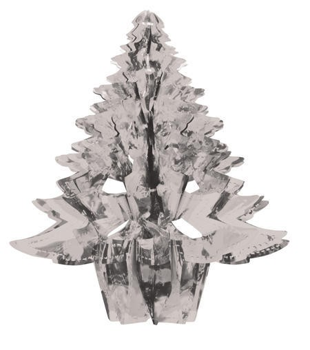 Glitz Silver Hanging Dcor 16in Christmas Tree