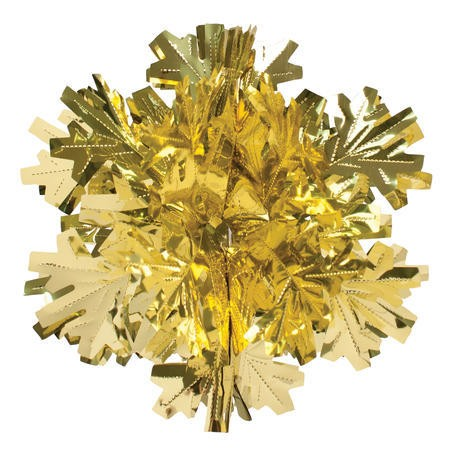 Glitz Gold Hanging Dcor 16in Dimensional Snowflake
