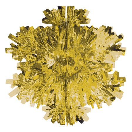 Glitz Gold Hanging Dcor 8in Dimensional Snowflake