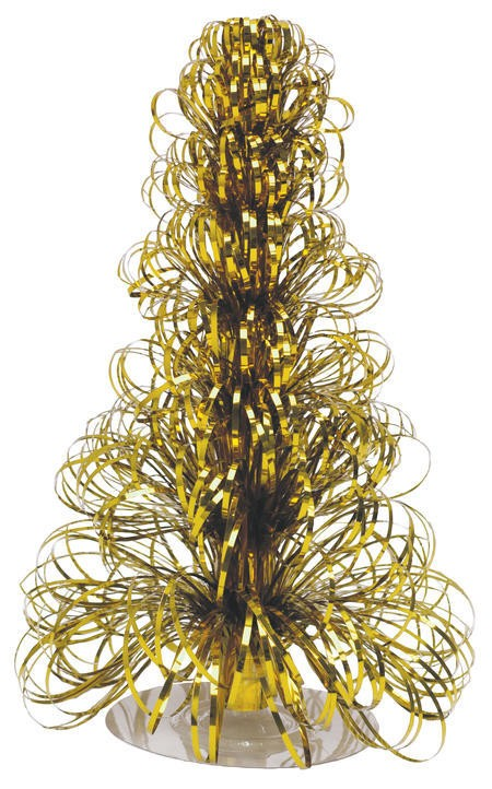 Glitz Gold 12in Christmas Tree Centerpiece