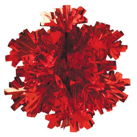 Glitz Red Hanging Dcor 16in Dimensional Snowflake