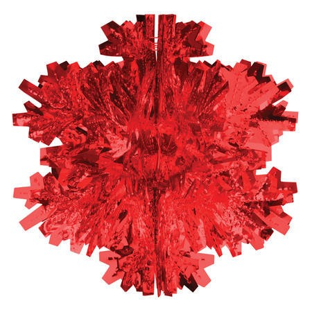 Glitz Red Hanging Dcor 8om Dimensional Snowflake