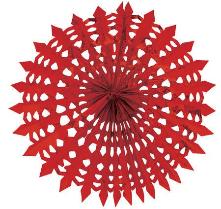 Glitz Red Hanging Dcor 16in Fan