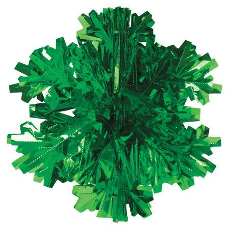 Glitz Green Hanging Dcor 16in Dimensional Snowflake