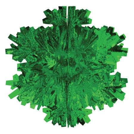 Glitz Green Hanging Dcor 8in Dimensional Snowflake