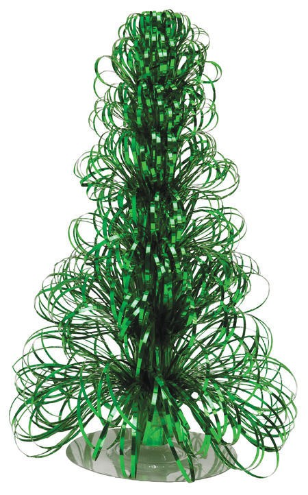 Glitz Green 12in Christmas Tree Centerpiece