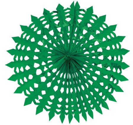 Glitz Green Hanging Dcor 16in Fan