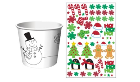 Christmas Activity Treat Cups with Stickers