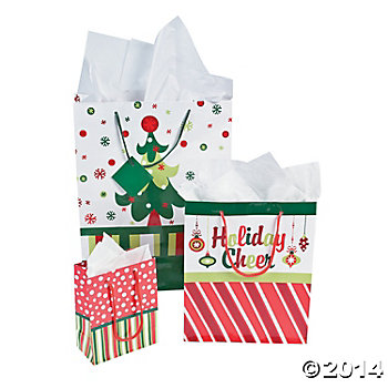 Paper Bright Christmas Gift Bag Assortment