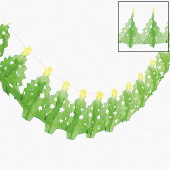Paper Tissue Christmas Tree Garland