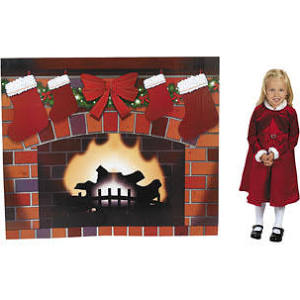 Cardboard Fireplace Stand-Up