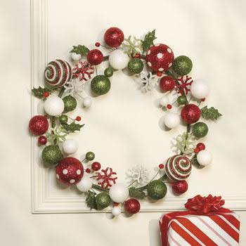 Foam Red & Green Holiday Wreath