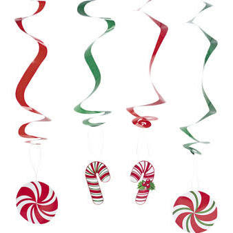 Cardboard Candy Cane Hanging Cutouts