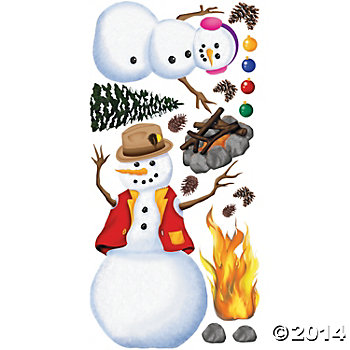 Vinyl Design-A-Room Snow People Set
