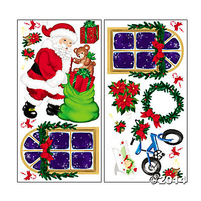 Vinyl Design-A-Room Santa Claus Set