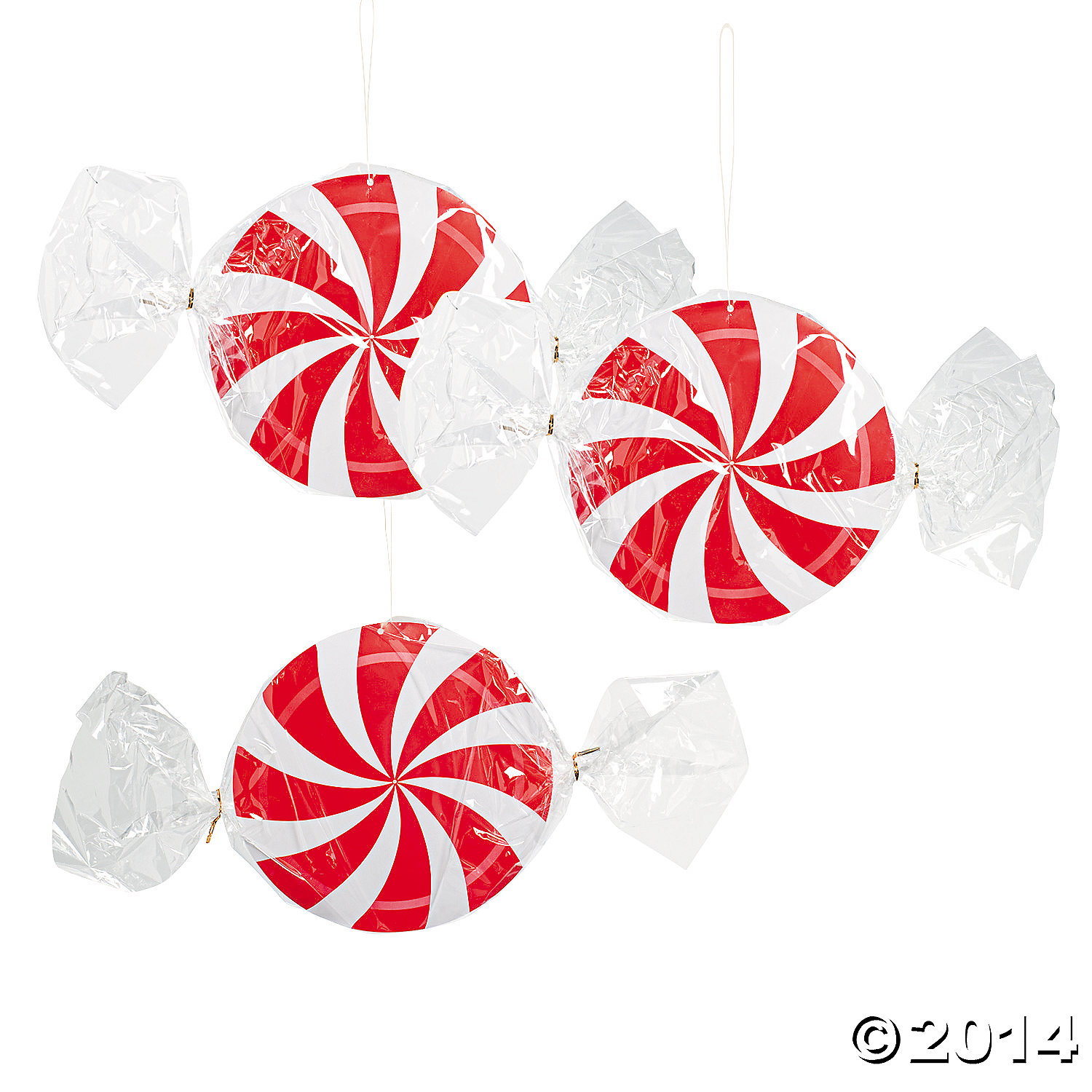 Peppermint Swirl Lanterns