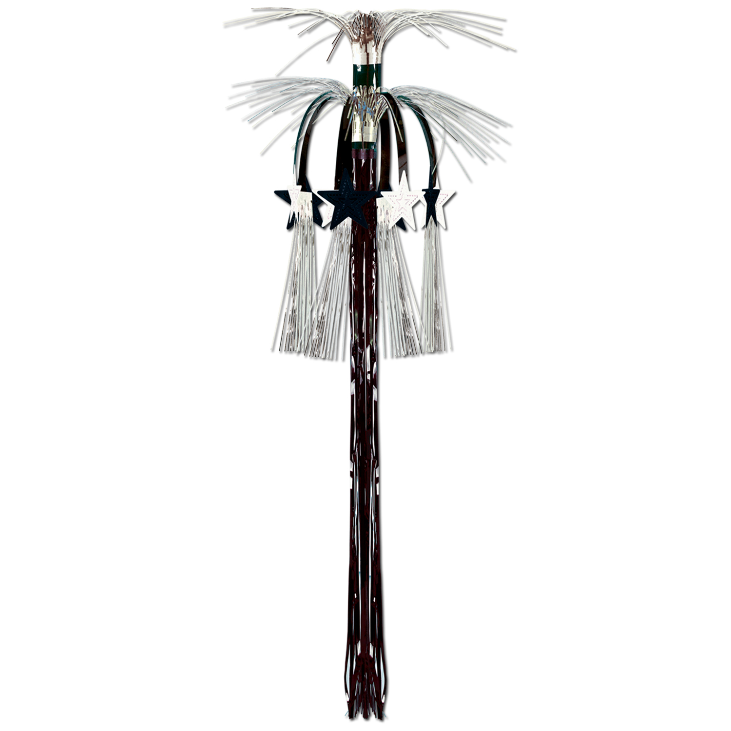 Star Cascade Hanging Column 3ft black & silver