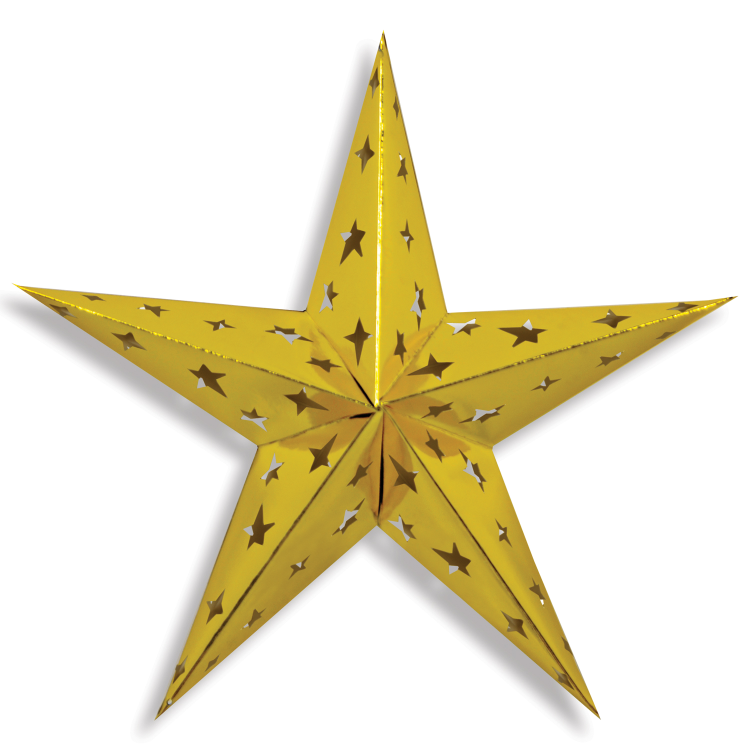 Dimensional Foil Star 24in gold