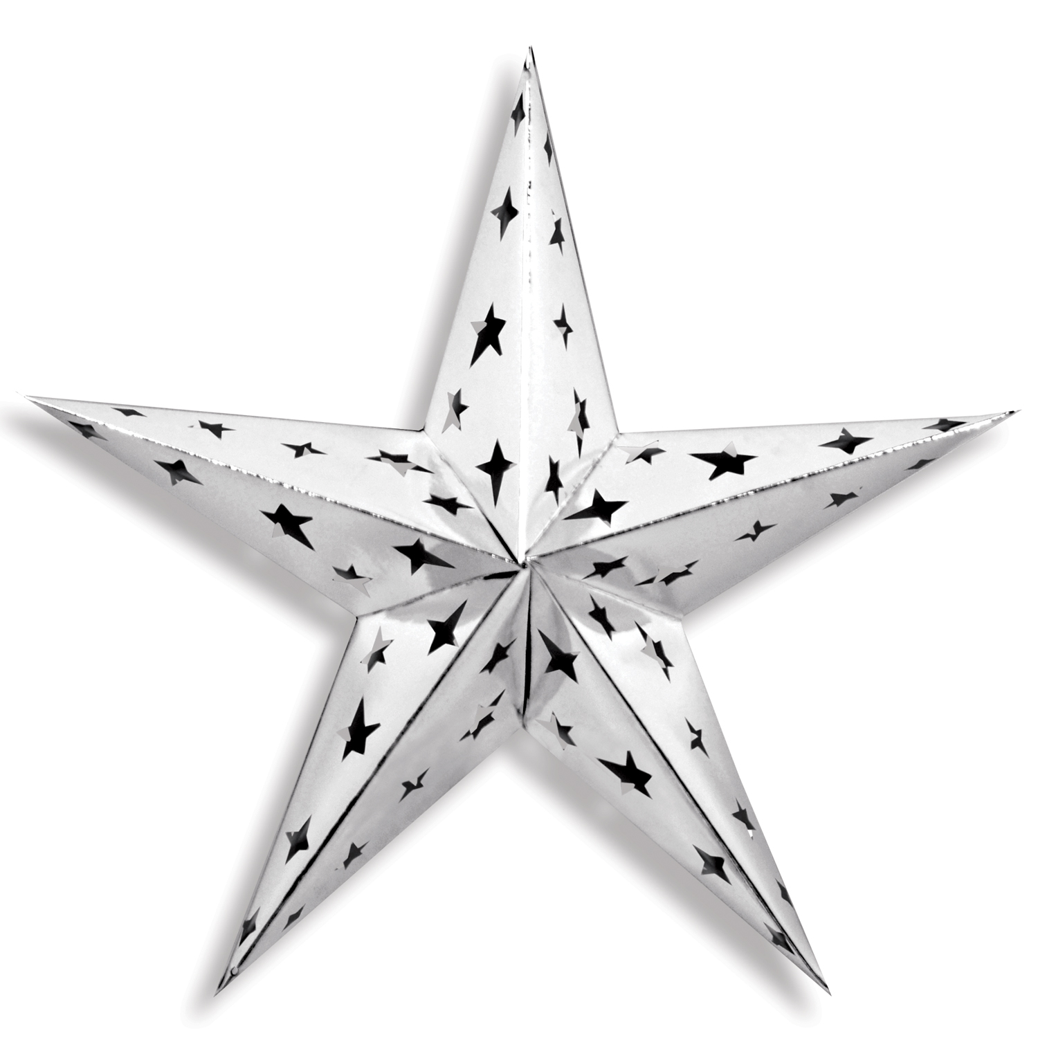 Dimensional Foil Star 24in silver