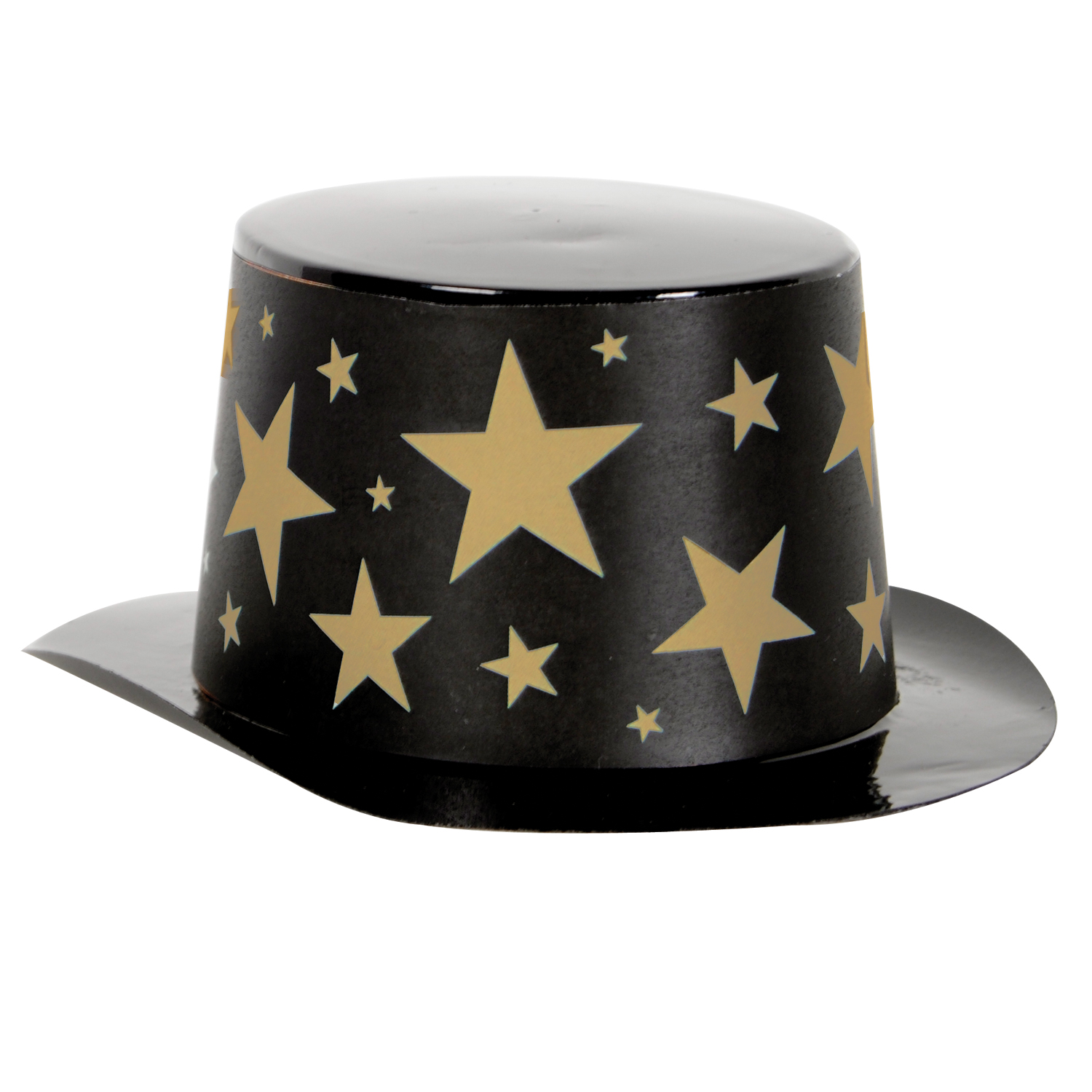 Mini Black Plastic Topper Star Band 4.75x2in black & gold