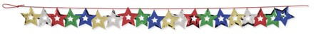Multicolor Stars 9ft Confetti Garland