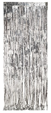 Silver Foil 8x3ft Door Fringe