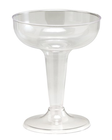 4 Oz Clear Plastic Champagne Glasses