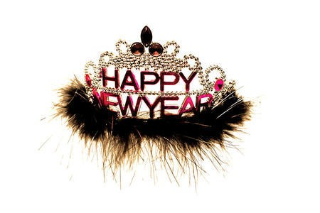 Happy New Year New Year's Eve Feather Tiara