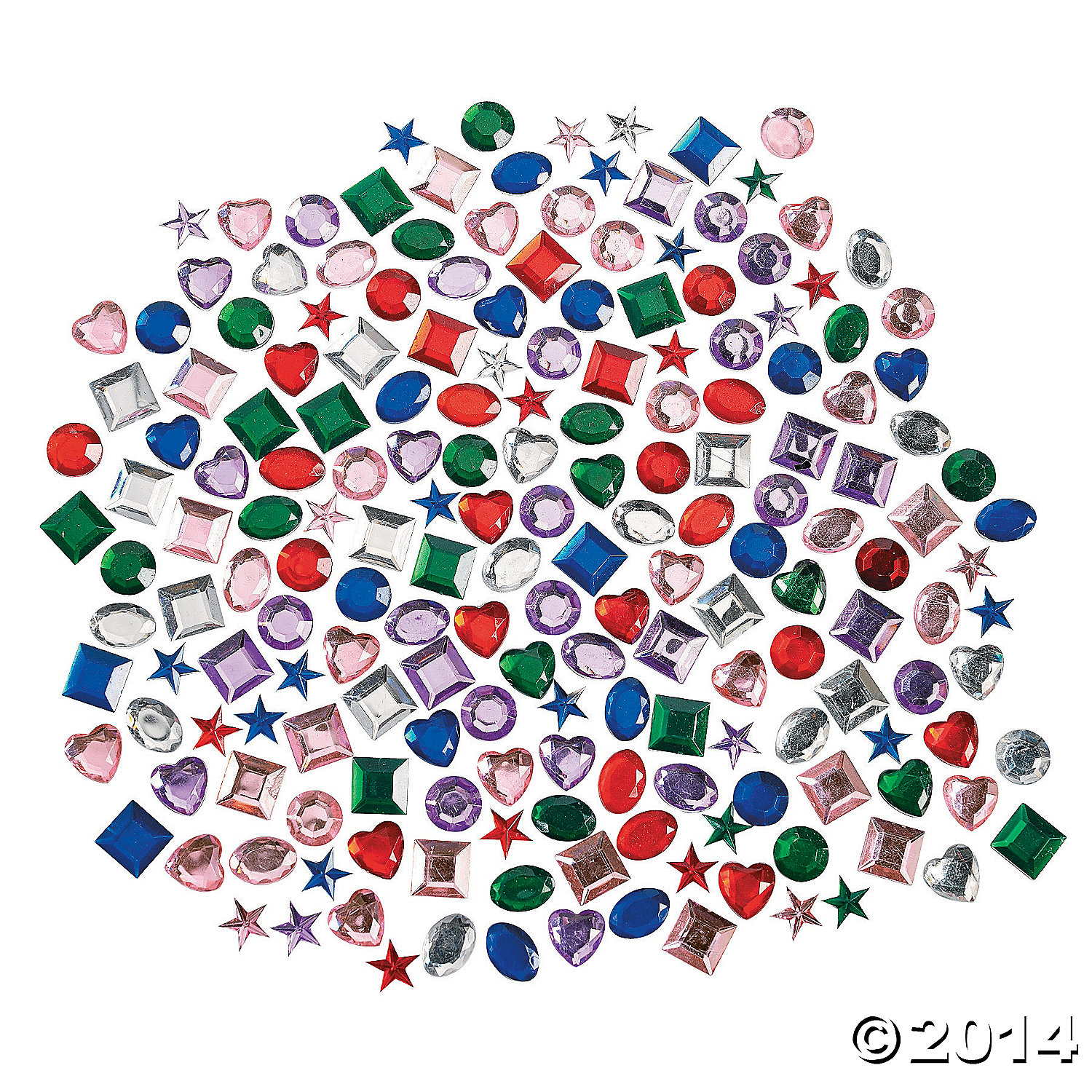 Plastic Self-Adhesive Jewels