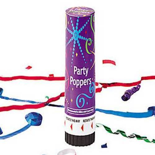 Plastic Jumbo Party Poppers