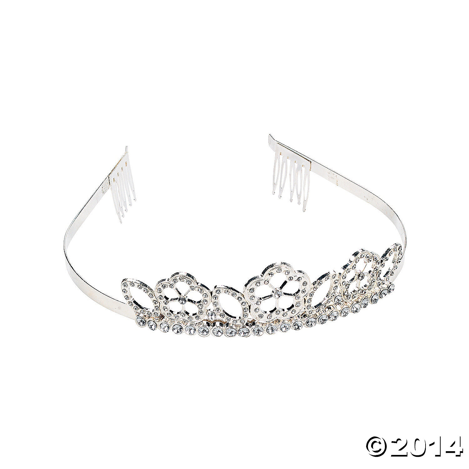 Metal Rhinestone Flower Girl Tiara