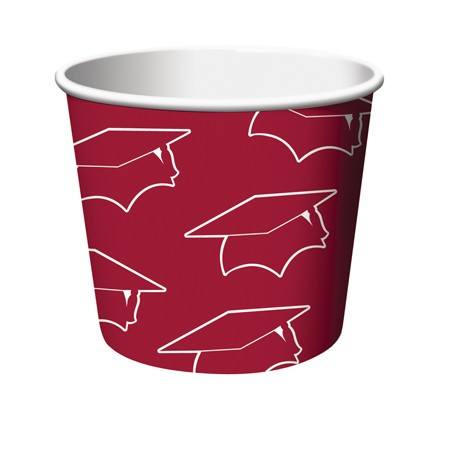 Burgundy Grad Treat Cups