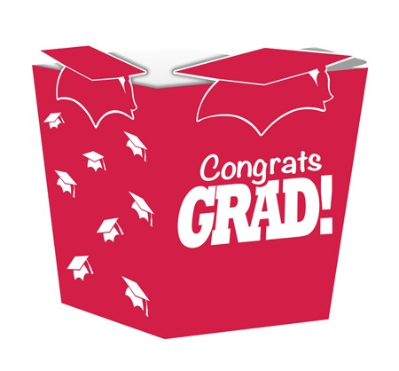 Red Grad Shaped Treat Boxes