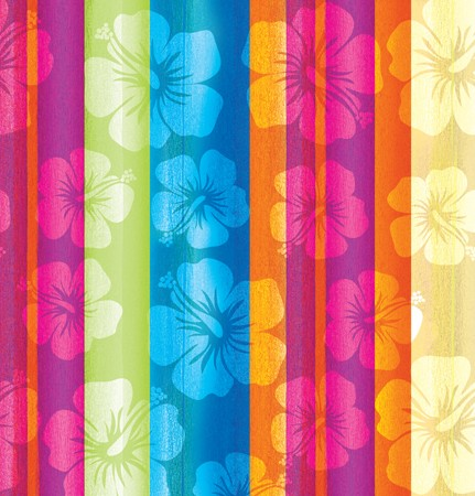 Aloha Summer Plastic 54x108 Tablecover