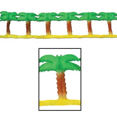 Palm Tree Garland 8.75in x 12ft